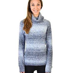 Columbia blue ombré turtleneck sweater